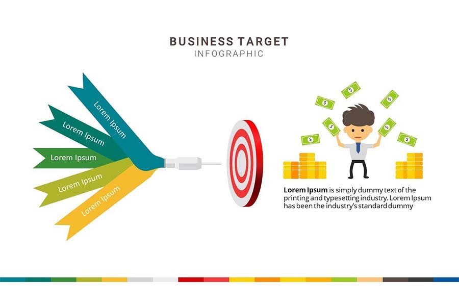 How To Create Goals, Objective, Target And Mission Slide Design In Powerpoint