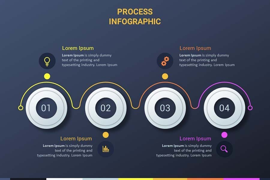 How To Design A Creative Business Process Infographic On Powerpoint