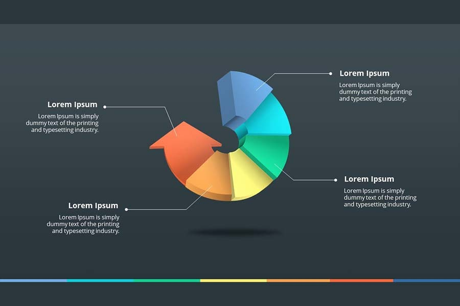 How To Make 5 Steps 3D Arrow Circle Infographic In Powerpoint