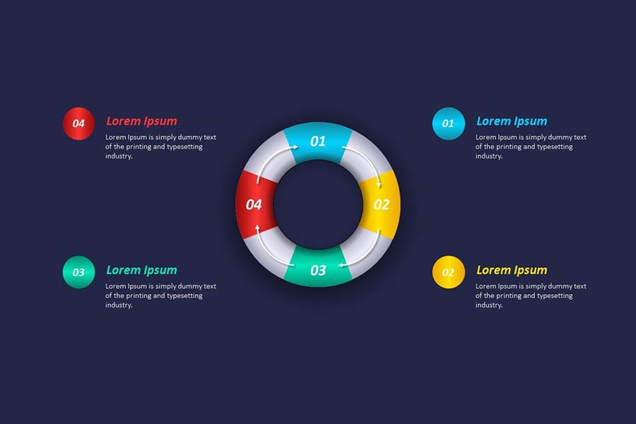 Process Infographic Template Free Powerpoint