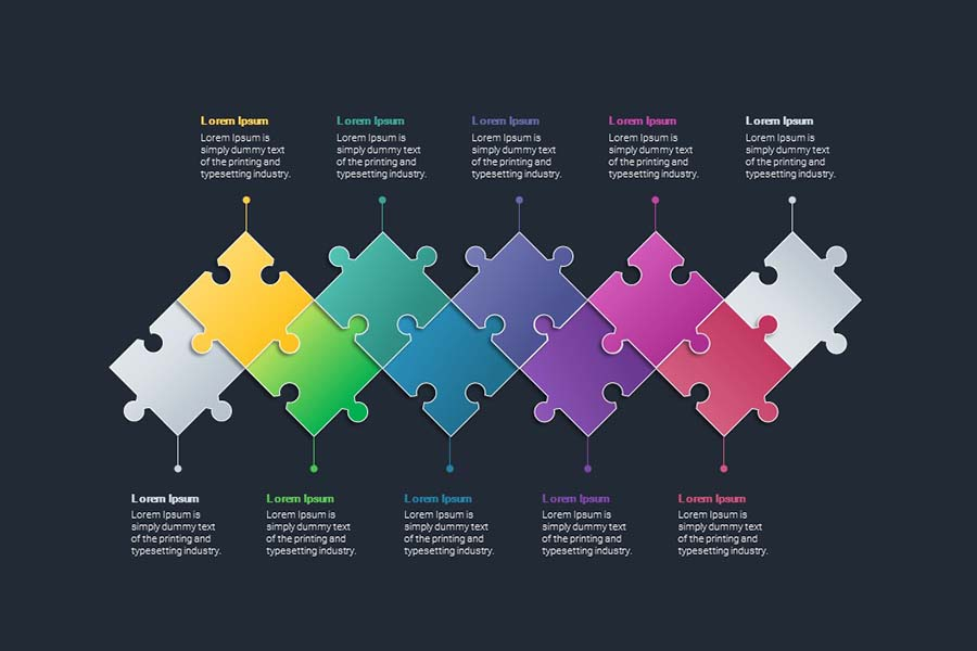 powerpoint puzzle pieces animation free 1